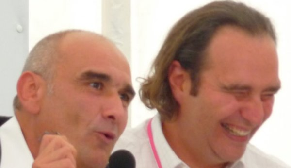Pascal Negre et Xavier Niel en pleine rigolade