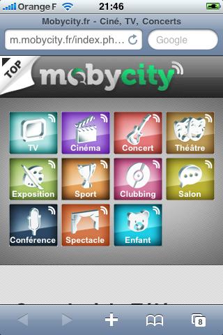 MobyCity, premier guide des loisirs mobiles