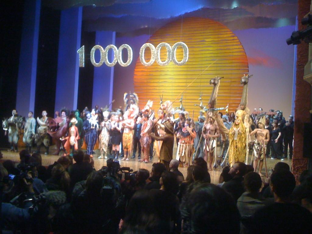1000e spectateur au Roi Lion au théâtre Mogador