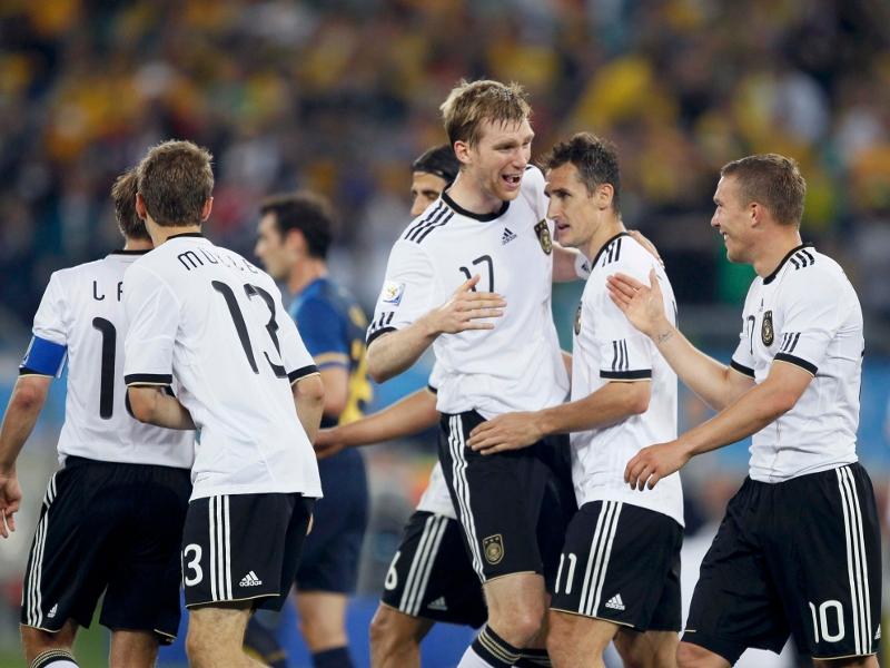 Les allemands après leur magistrale victoire contre l'Argentine