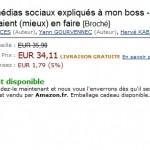 Les médias sociaux … sur Amazon…