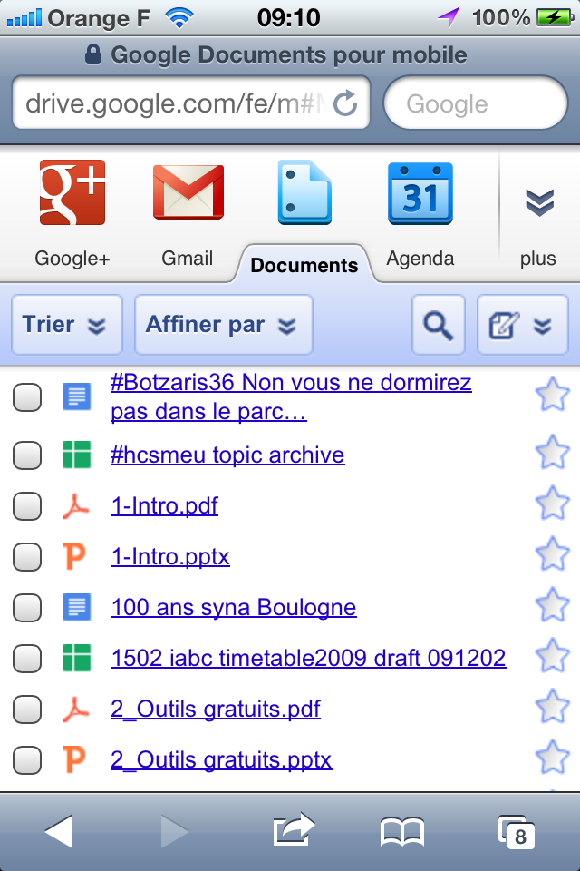 Google Drive depuis un iPhone, c'est comme Google Docs