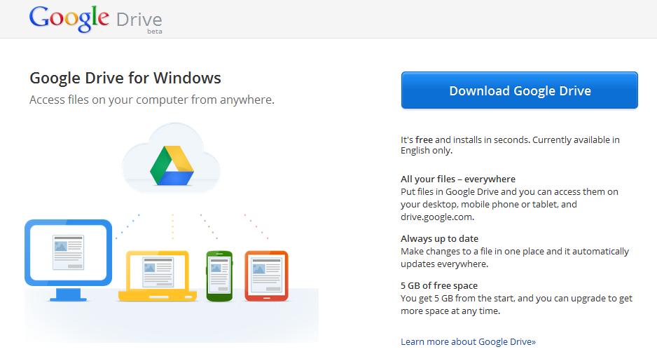 Télécharger l'application Google Drive pour PC