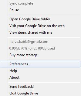 Google Drive tient compte de l'espace acheté sur son compte Google, apr exemple pour GMail