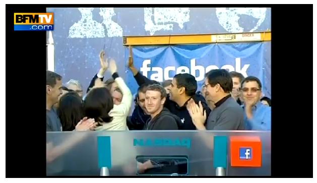 Mark Zuckerberg venu sonner la cloche du NASDAQ