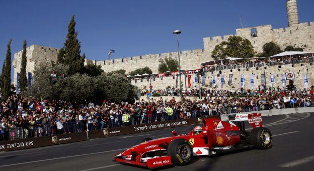 Jérusalem transformée en circuit de formule 1
