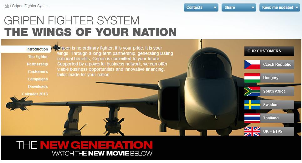 Le SAAB Gripen, peut-être pas le meilleur, mais le mieux vendu des deux...