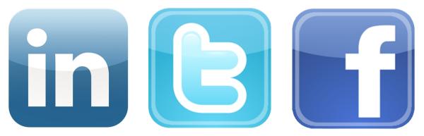 logo facebook linkedin