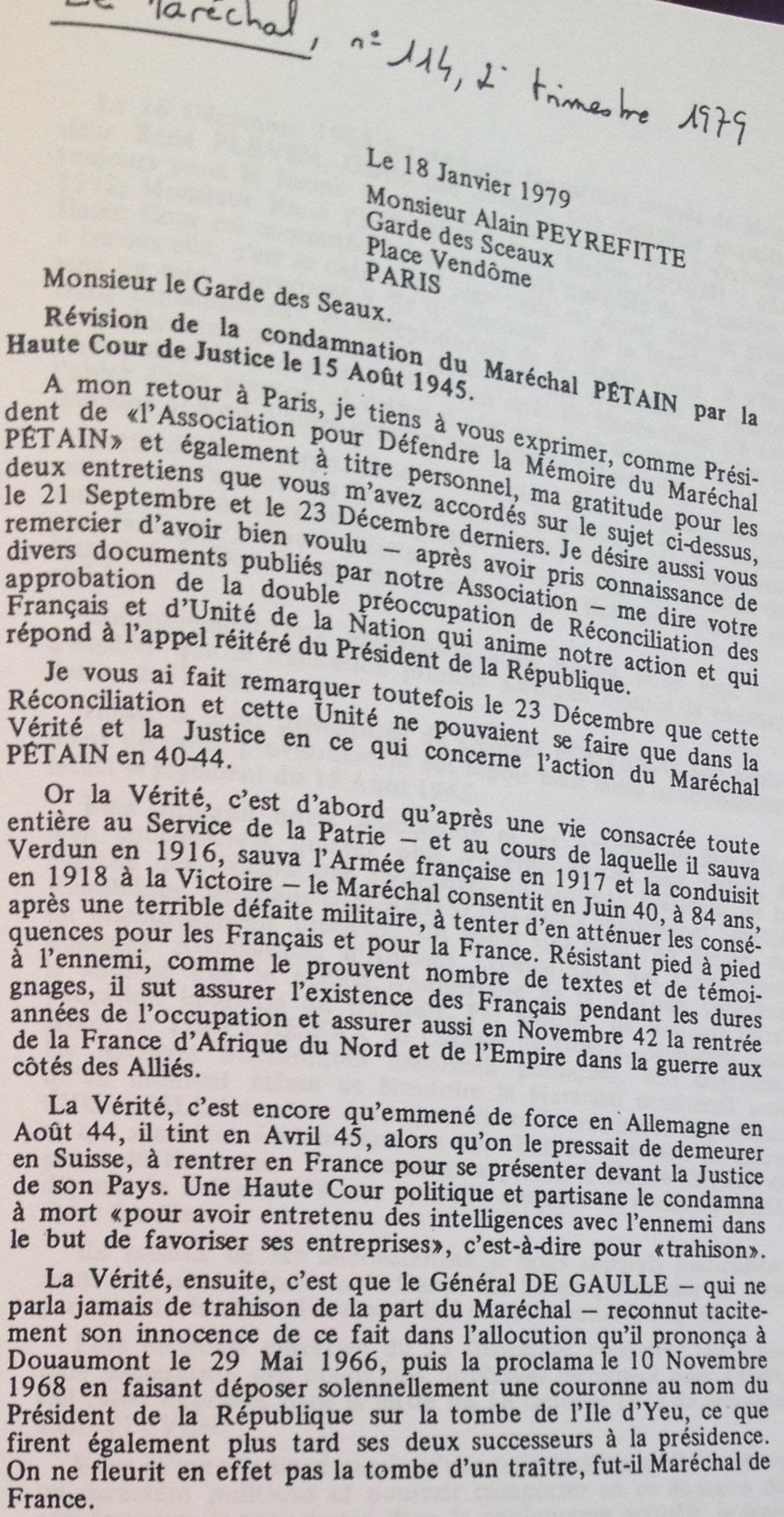 lettre peyrefitte