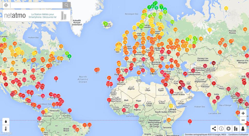 meteo mondiale avec netatmo