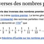 La série des inverses des nombres premiers est-elle convergente?
