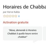 Les horaires de chabbat sur Amazon Echo