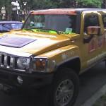 Un Hummer aux couleurs du groupe CFAO