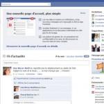 La nouvelle page d'accueil Facebook