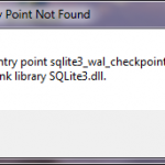 The procedure entry point sqlite3_wal_checkpoint …