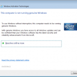 Windows Activation Technologies me casse les bonbons