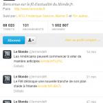 1 million d'abonnés pour le compte Twitter du quotidien Le Monde