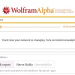 """J'ai testé le """"Facebook report"""" par Wolfram Alpha"""