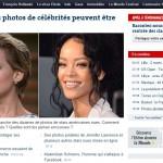 Des photos de célébrité en «une» du Monde?