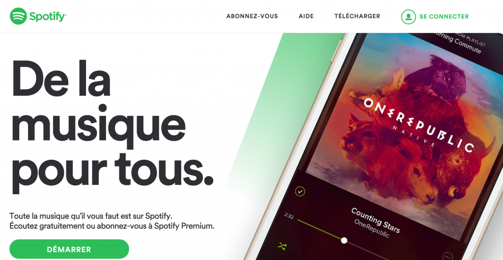 Homepage spotify