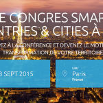 Smart Cities & Smart Countries à Paris les 1, 2, 3 septembre 2015