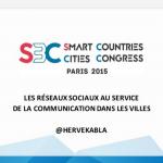 Les réseaux sociaux au service de la communication dans les villes #S3CParis