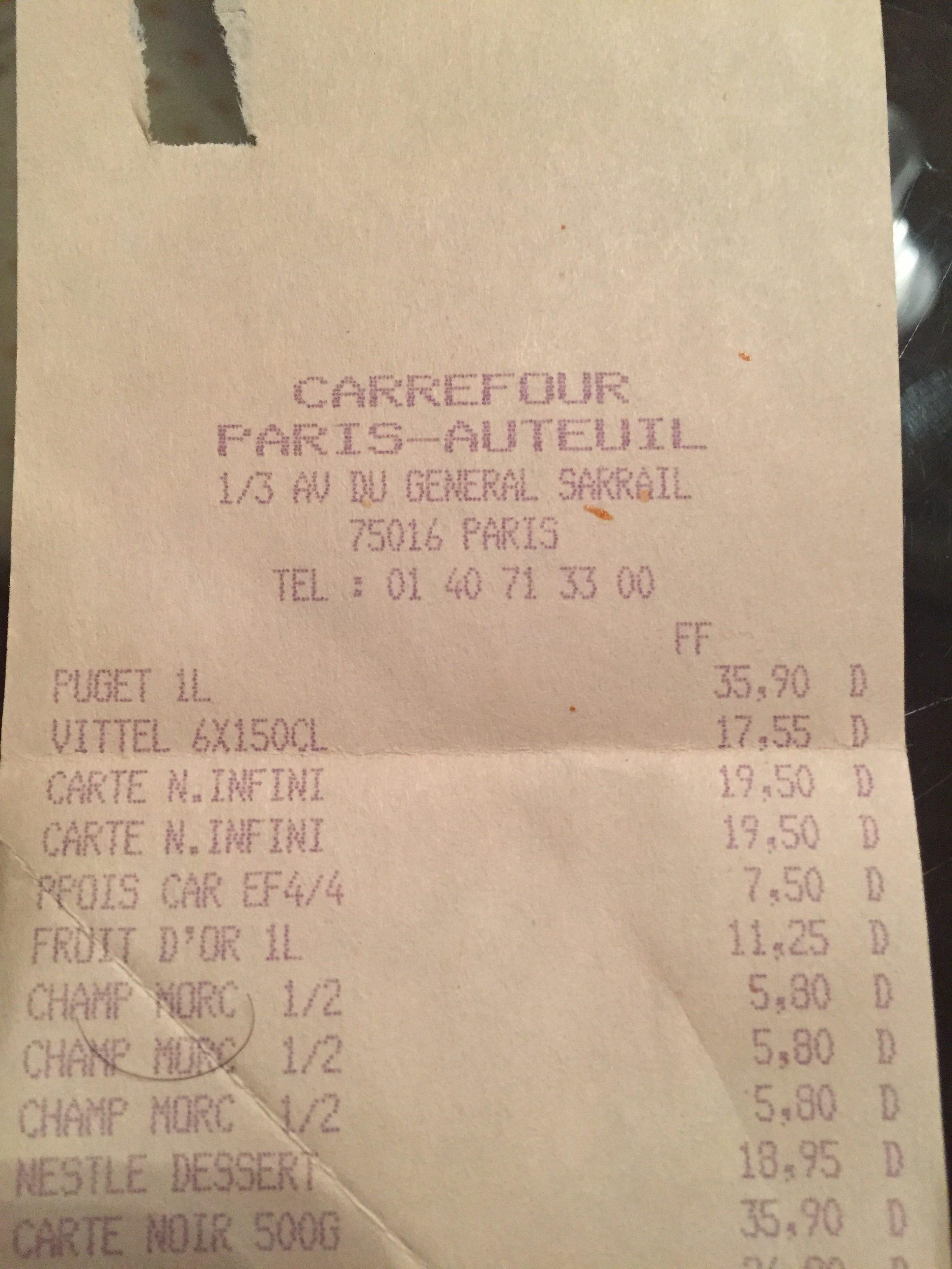 Carte Carrefour Ticket De Caisse.Carrefour Archives Kablages